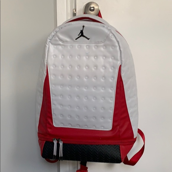 A Red And White Jordan Book Bag